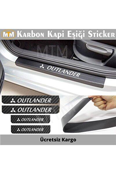 Adel Mitsubishi Outlander Karbon Kapı Eşiği Sticker (4 Adet)
