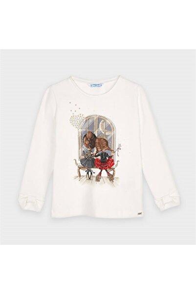 MAYORAL Kız Çocuk Manşetleri Modelli Uzun Kol Sweatshirt