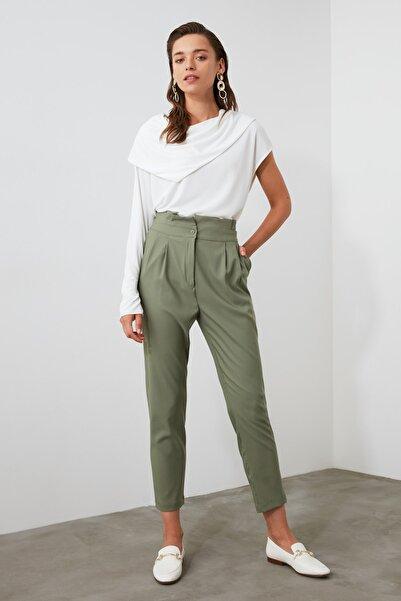 TRENDYOLMİLLA Haki Basic Pantolon TWOAW21PL0139