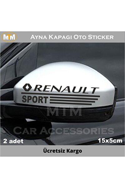 Adel Renault Ayna Kapağı Oto Sticker (2 Adet)