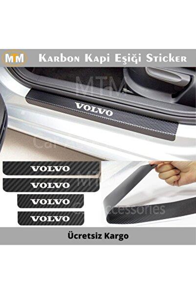 Adel Volvo Karbon Kapı Eşiği Sticker (4 Adet)