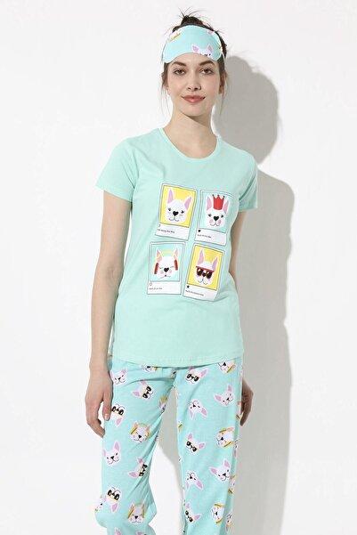 Arma Life Baskılı Pijama Takımı - Mint