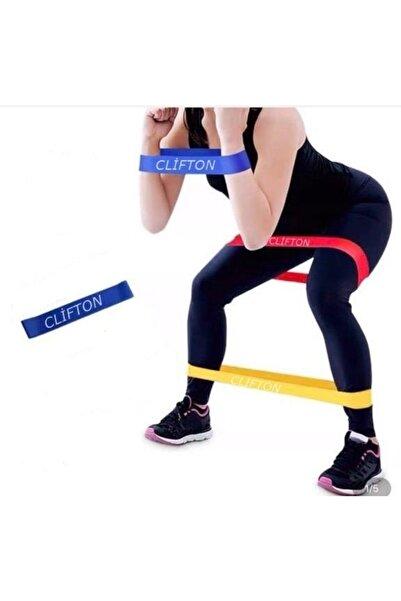 Clifton Aerobik Band Pilates Plates Yoga Fitness Squat Çalışma Lastiği Latex Egzersiz Lacivert