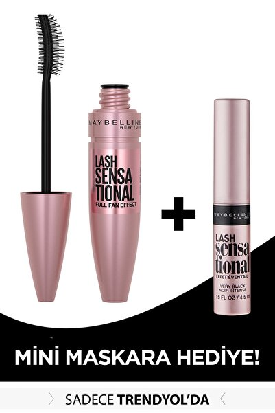 Maybelline New York Lash Sensational Black Maskara 9.5 ml + Mini Lash Sensational Siyah Maskara 4.5 ml 301717251