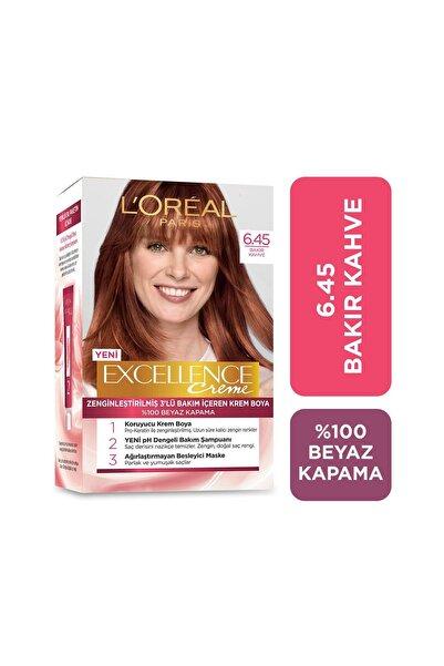 Saç Boyası - Excellence Creme 6.45 Bakır Kahve 3600522377993