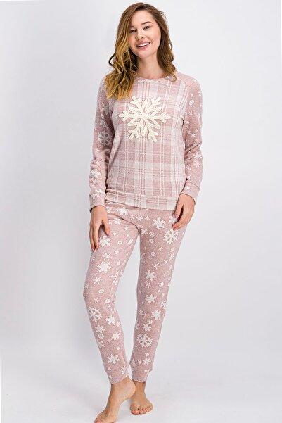 Arnetta Açık Gül Kurusu Big Snow Kadın Pijama Takımı