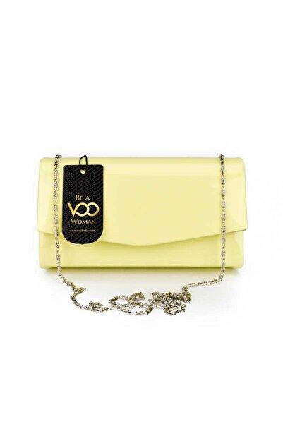 VOO Kadın Sarı Rugan Mini El Çantası