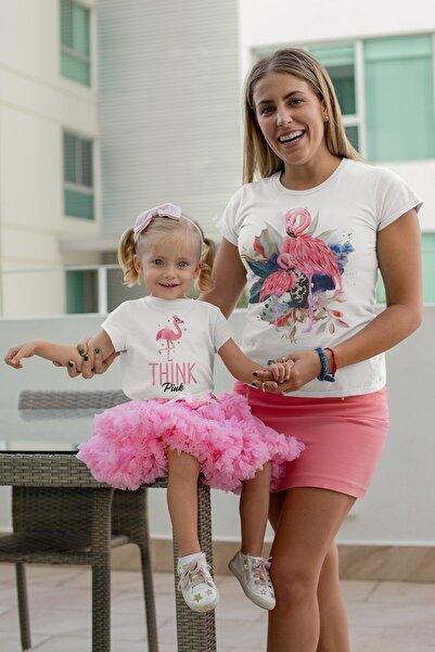 Tshigo Anne Kız Takımı Tişört Pembe Flamingo