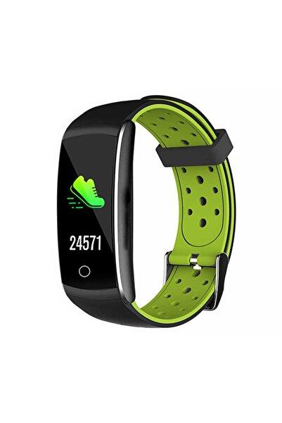 Everest Unisex Yeşil Siyah Akıllı Bilekli Saat Ever Fit W49 Android ıos Smart Watch Kalp Atışı Sensörlü