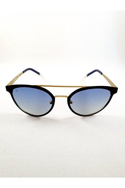 DUNLOP Oval Cat Eye Tasarım Siyah Bakır Metal Hafif Çerçeveli Kadın Güneş Gözlüğü
