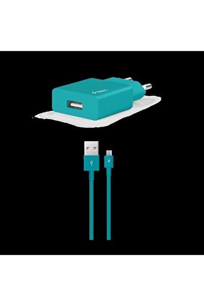 Ttec Smartcharger Seyahat Şarj Aleti 2.1a + Micro Usb Kablo Turkuaz