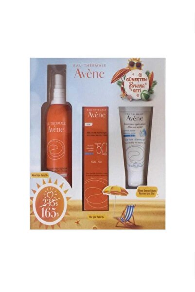 Avene Güneş Koruma Seti Emulsion Spf 50+ 50 Ml Spray Spf 50 + 200 Ml & After Sun 50  ml 3282770114799