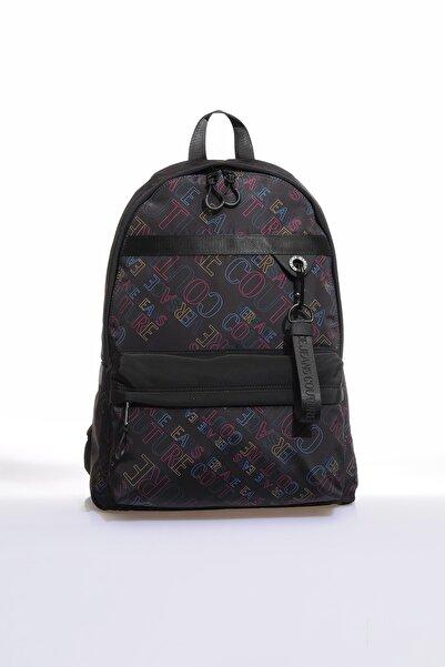 VERSACE JEANS COUTURE Renkli Siyah Unisex Sırt Çantası E1 Yzbb50