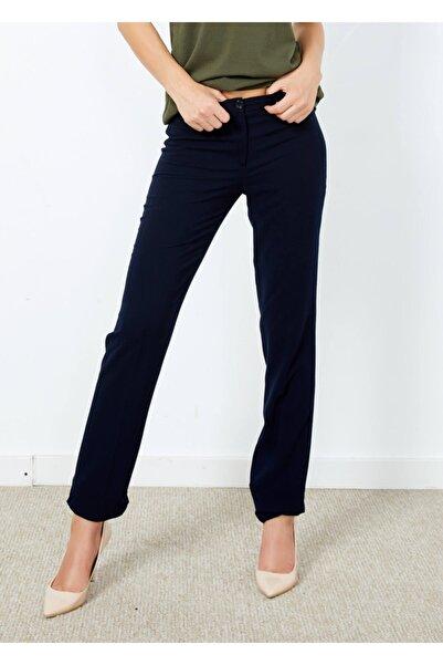 Adze Kadın Lacivert Klasik Pantalon