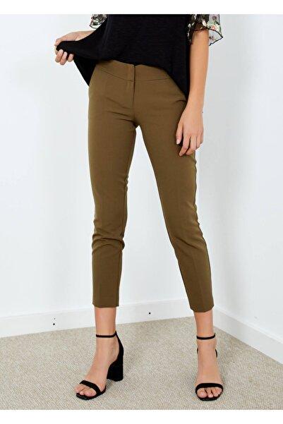 Adze Kadın Haki Cepli Klasik Kesim Pantolon 36