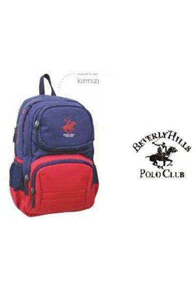 Beverly Hills Polo Club Polo Club Pasific Sırt Çantası Lacivert - Kırmızı