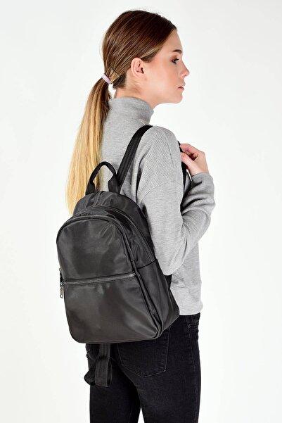 Addax Kadın Siyah Fermuar Detaylı Çanta