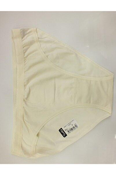 Tutku Kadın Ekru Cotton Su Yolu 3 Lü Bikini Külot
