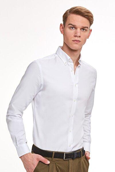 Hemington Erkek Beyaz Yazlık Oxford Gömlek