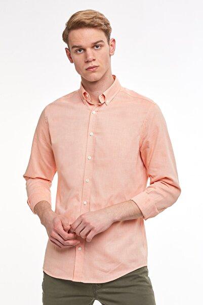Hemington Erkek Turuncu Yazık Oxford Gömlek