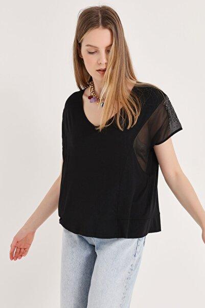 HomeStore Kadın Siyah Bluz 20250119048