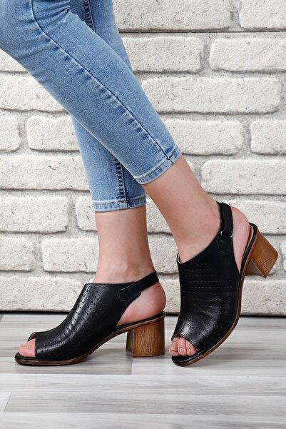 G.Ö.N Gön Hakiki Deri Kadın Sandalet 45627