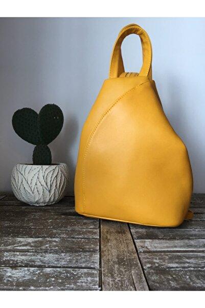 Le Cuir Kadın Sarı Sırt Çantası