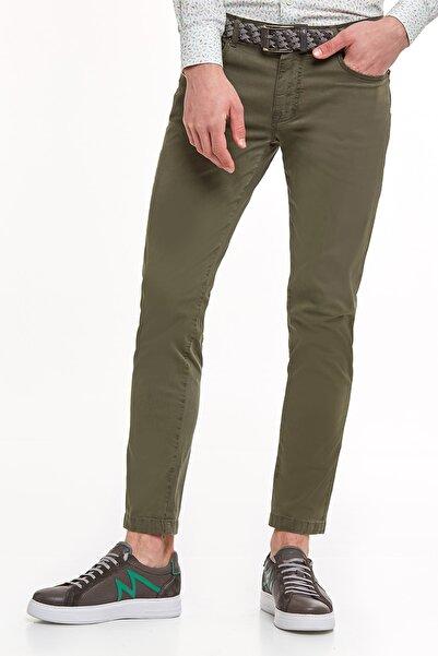Hemington Erkek Haki  Slim Fit 5 Cep Yazlık Pantolon