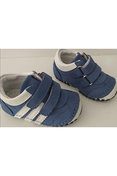 Erkek Bebek Mavi Ortopedik Ilk Adım Ayakkabı