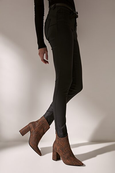 Hotiç Tekstil Taba Kadın Topuklu Bot