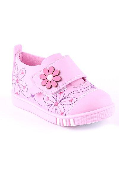 Akıllı Şirin Ortopedik Ilk Adım Kız Çocuk Nakış Işlemeli Mevsimlik Ayakkabı Pembe