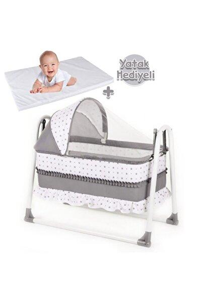 bebegen Elit Portatif Sallanır Bebek Beşik Gri