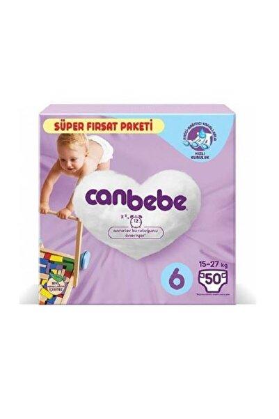 Canbebe Bebek Bezi Süper Fırsat Paketi 6 Numara 15-27 Kg 50 Adet