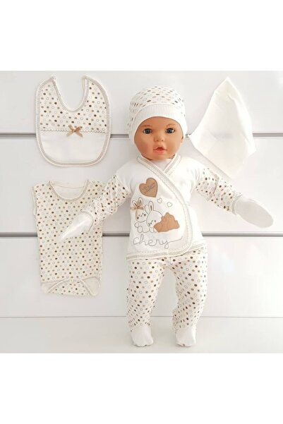 bebegen Chery Kahve 7 Li Erkek Bebek Hastane Çıkış Seti
