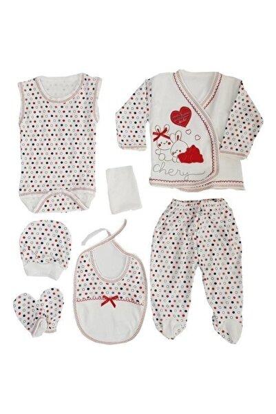 bebegen Chery Kırmızı 7 Li Bebek Hastane Çıkış Seti
