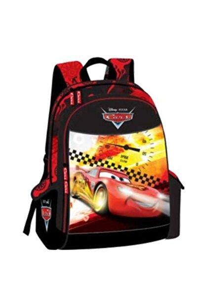 CARS Çocuk Siyah Kırmızı Okul Çantası