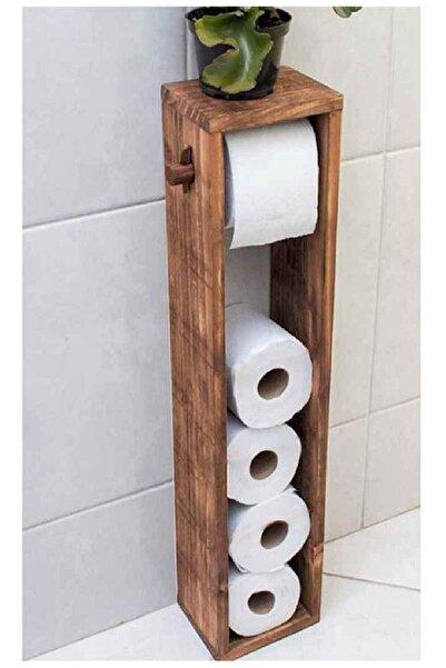 BRN STORE Wc Kağıtlık Tuvalet Kağıtlığı Ahşap Tuvalet Kağıdı Standı