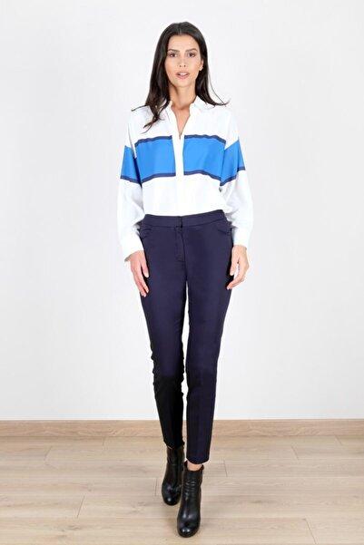Spazio Kadın Lacivert Jessie Cotton Pantolon 40094836