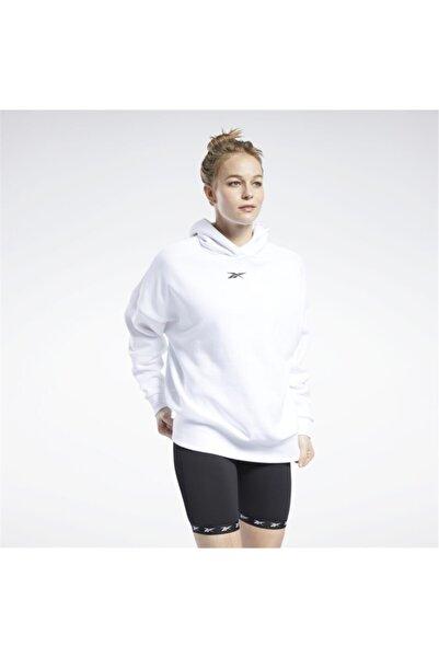Reebok Kadın Beyaz Oversize Hoodie