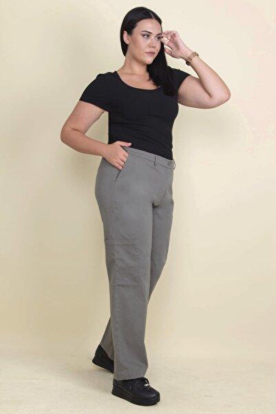Şans Kadın Haki Cep Detaylı Pantolon 65N17900