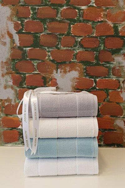 Özdilek Ramona Havlu 4'lü - Beyaz Mint Krem Gri