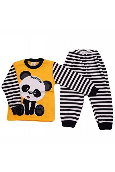 bebegen Süpermini Sarı Panda 2'li Pijama Takım