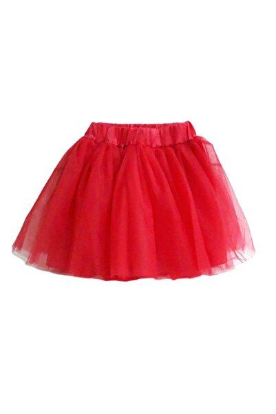 bebegen Kırmızı Tüllü Kız Çocuk Etek