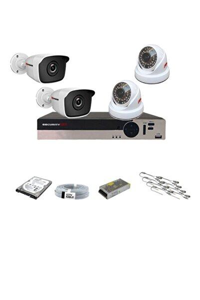 SecurityART 4 Kameralı 5mp Sony Lensli 1080p Full Hd Güvenlik Kamera Sistemi