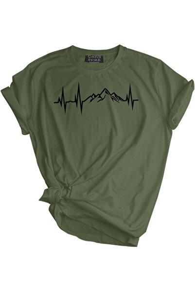 GENIUS Genıus Store Erkek Tişört Outdoor Baskılı T-shirt