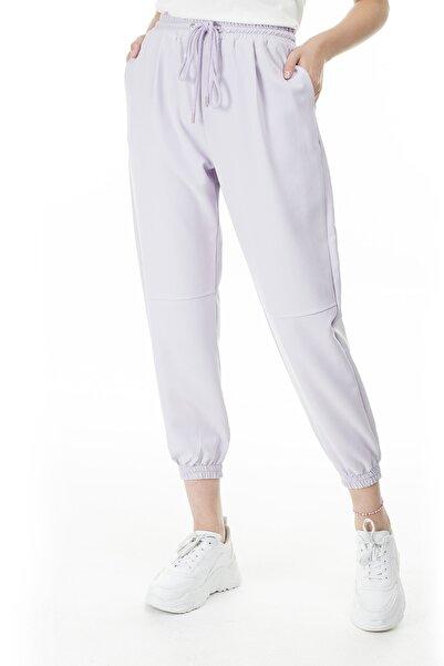 Lela Kadın Lila Belden Bağlamalı Pantolon