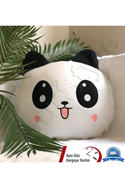 DISNEY Panda Figürlü Kalp Yanaklı Sevimli Peluş Yastık