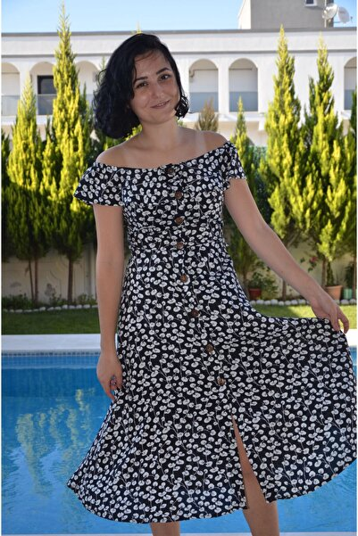 zeynep Beyaz-siyah Elbise
