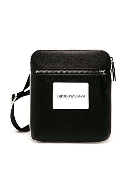 Emporio Armani Erkek Siyah Logo Baskılı Ayarlanabilir Askılı Çanta Y4m185 Yfm4j 83896