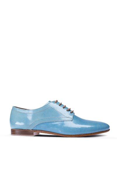 Deery Kadın Mavi Hakiki Deri Günlük Ayakkabı